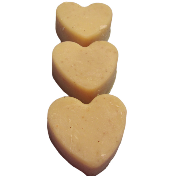 Mild Mannered Soap Trio with Cocoa Butter, gift set, hearts, handmade cold process, natural, essential oils